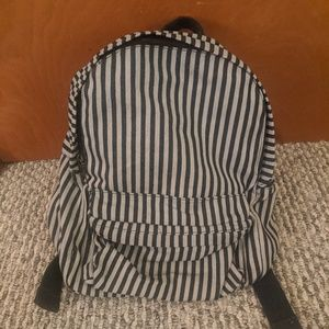 Urban Outfitters Navy Striped Backpack